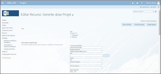 gp4us - Microsoft Project PPM - Recursos
