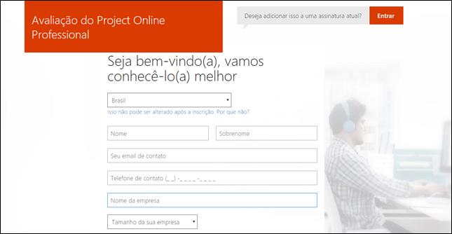 gp4us -Microsoft PPM - Criando uma conta