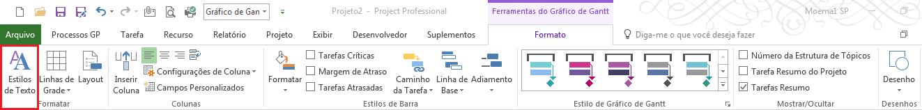 gp4us - MS Project - Formatação de Marcos